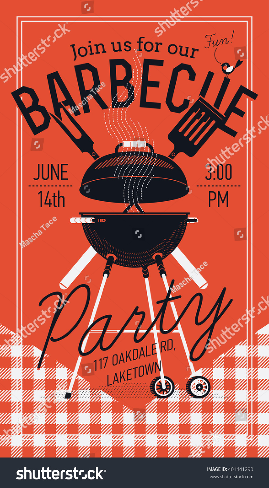 lovely vector flyer or poster template on barbecue party barbecue cookout event spring or