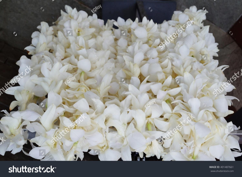 Fragrant White Tuberose Flower Kukui Nut Stock Photo Royalty Free
