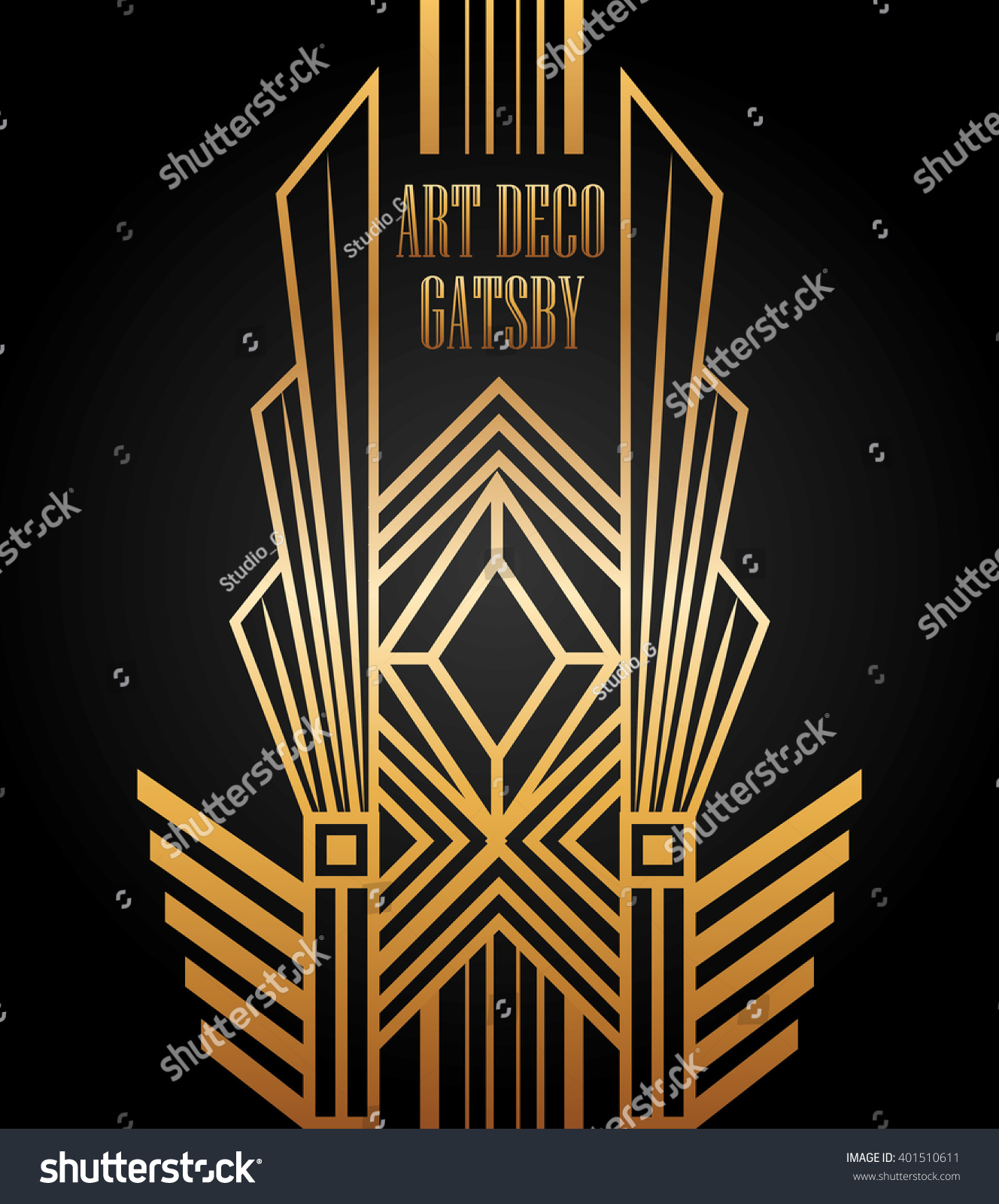 Art deco element gatsby design stock vector illustration for Deco 5 elements