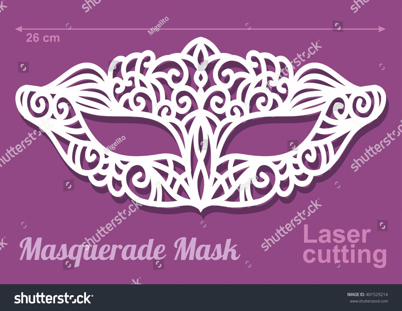 Beautiful Laser Cut Vector Die Masquerade Vector 401529214 – Masquerade Mask Template
