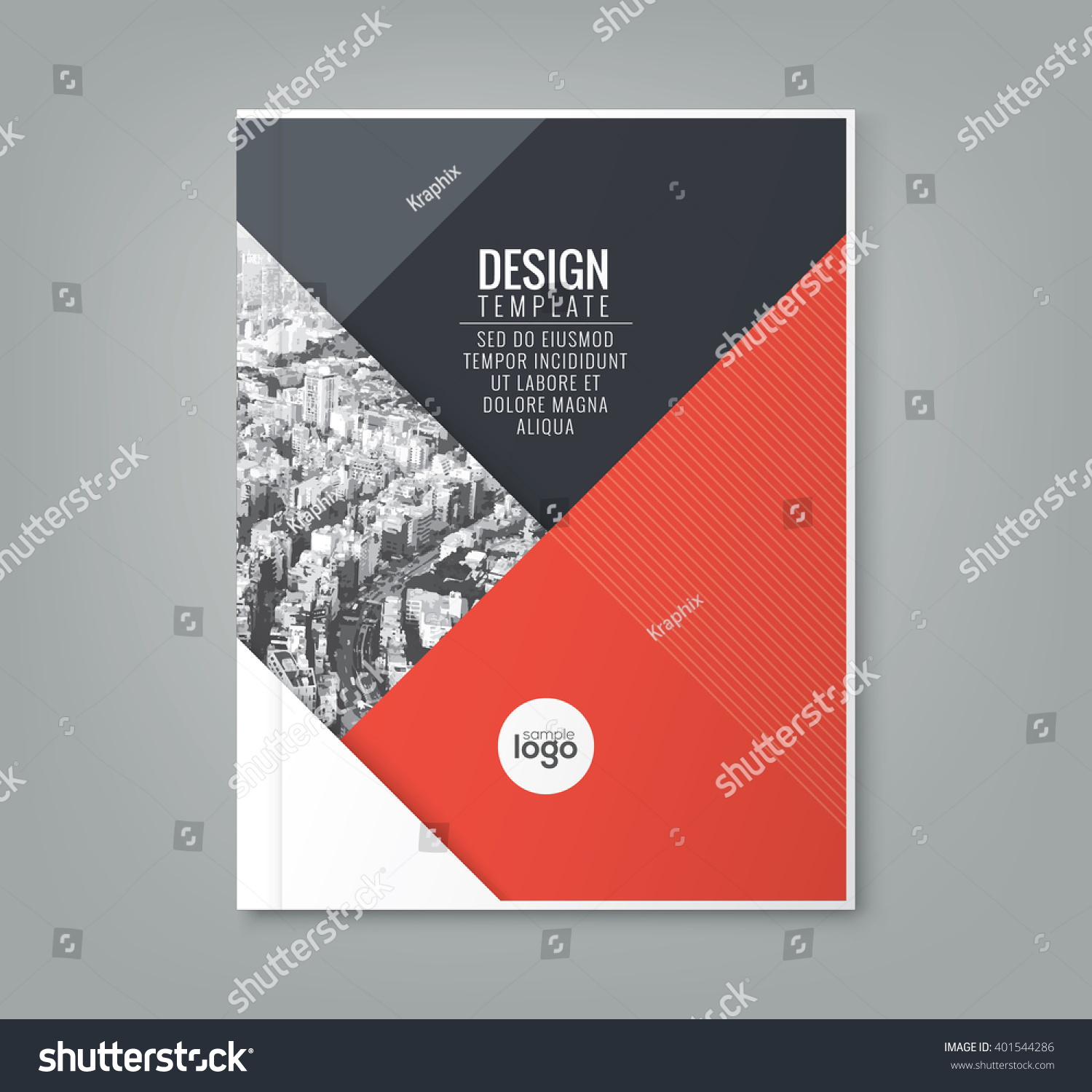 Simple Book Cover Design Template : Minimal simple red color design template stock vector
