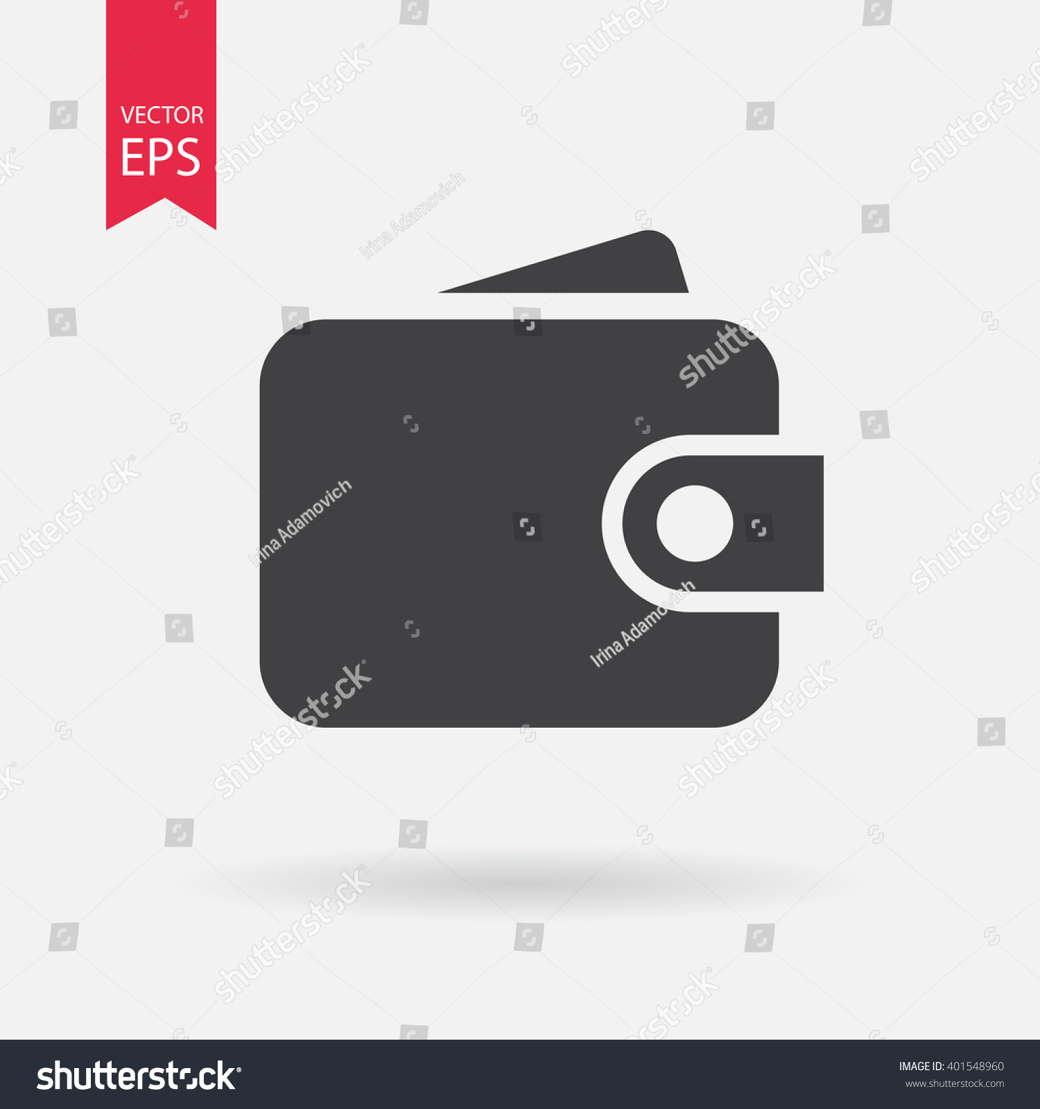 Purse Icon Vector Money Sign Isolated Stock Vector Royalty Free 401548960