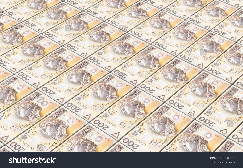 Polish Currency Bills Stacks Background 3d Illustration Ez Canvas
