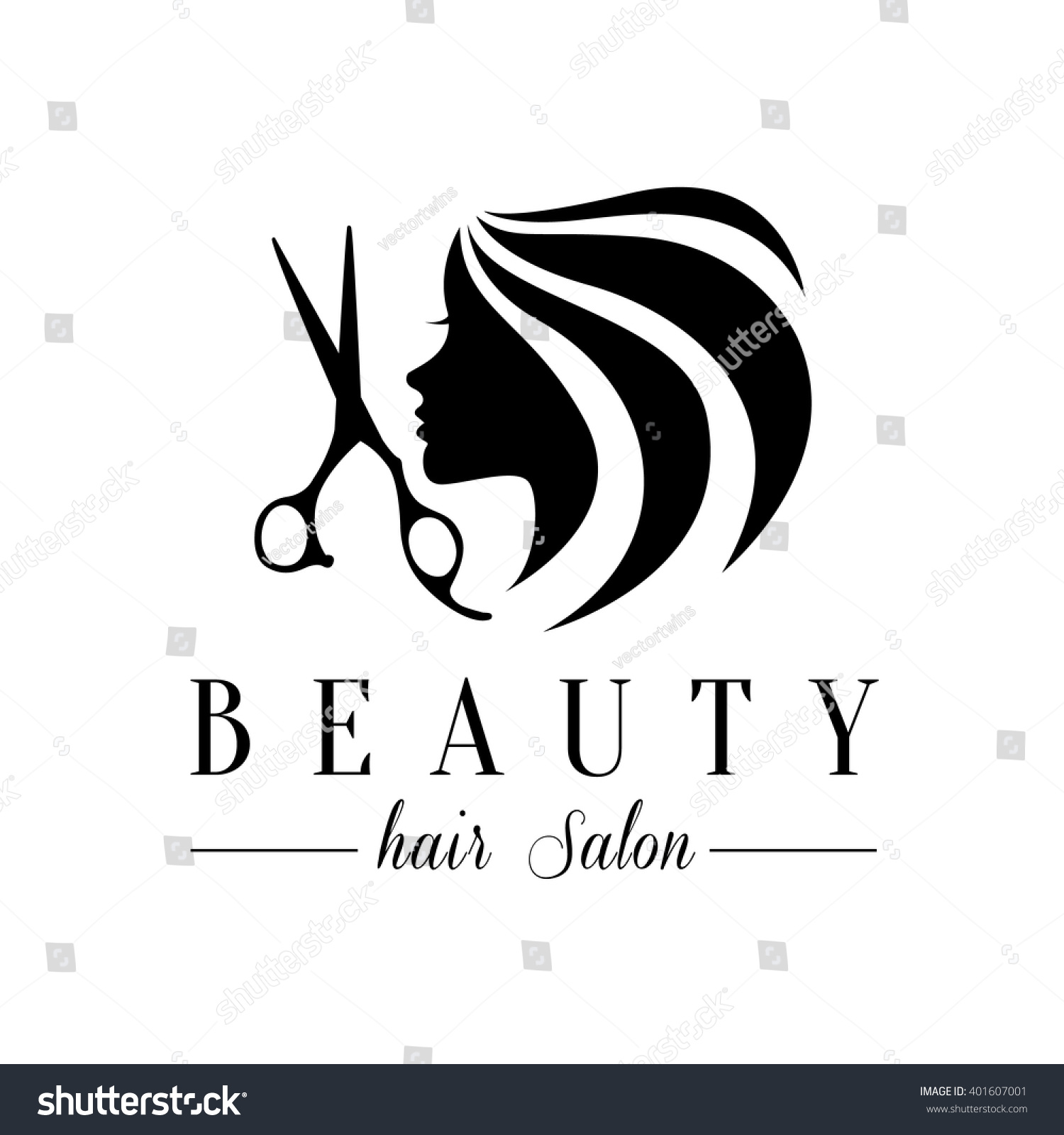 Hair Salon Logos Unlimited Clipart Design