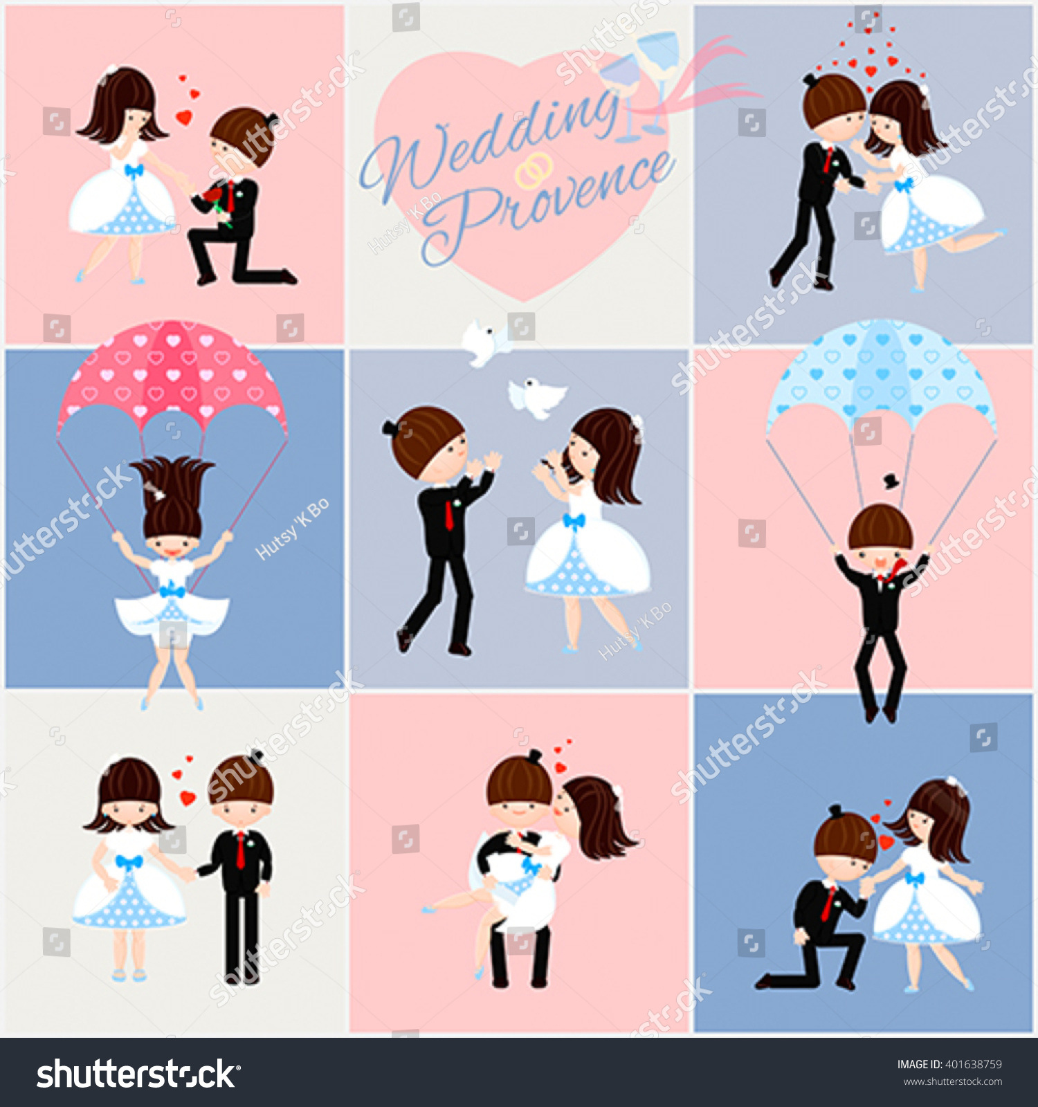 Vector set wedding greeting cards style stock vector 401638759 vector set wedding greeting cards style stock vector 401638759 shutterstock m4hsunfo