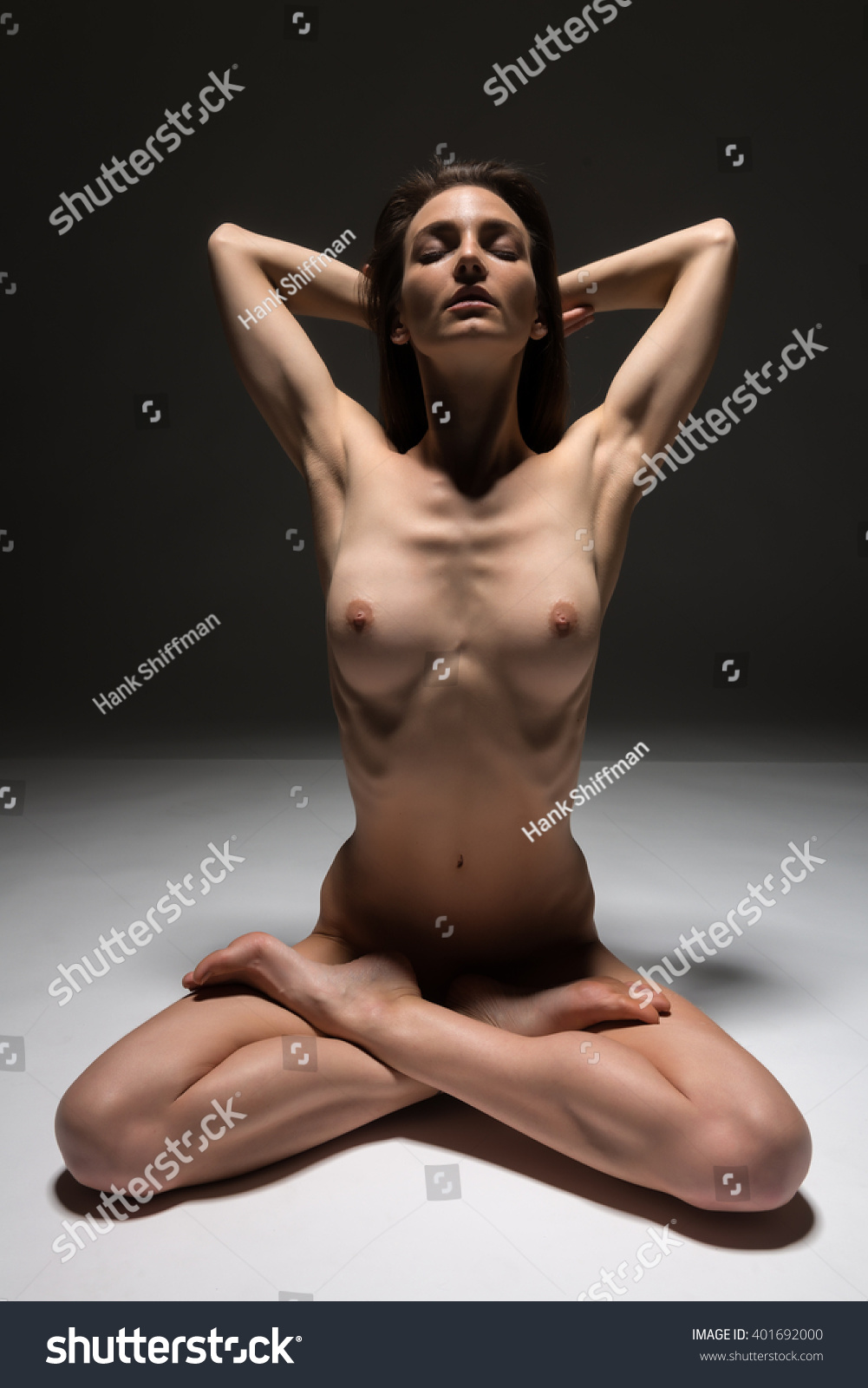 beautiful slender italian woman nude on stock photo (royalty free