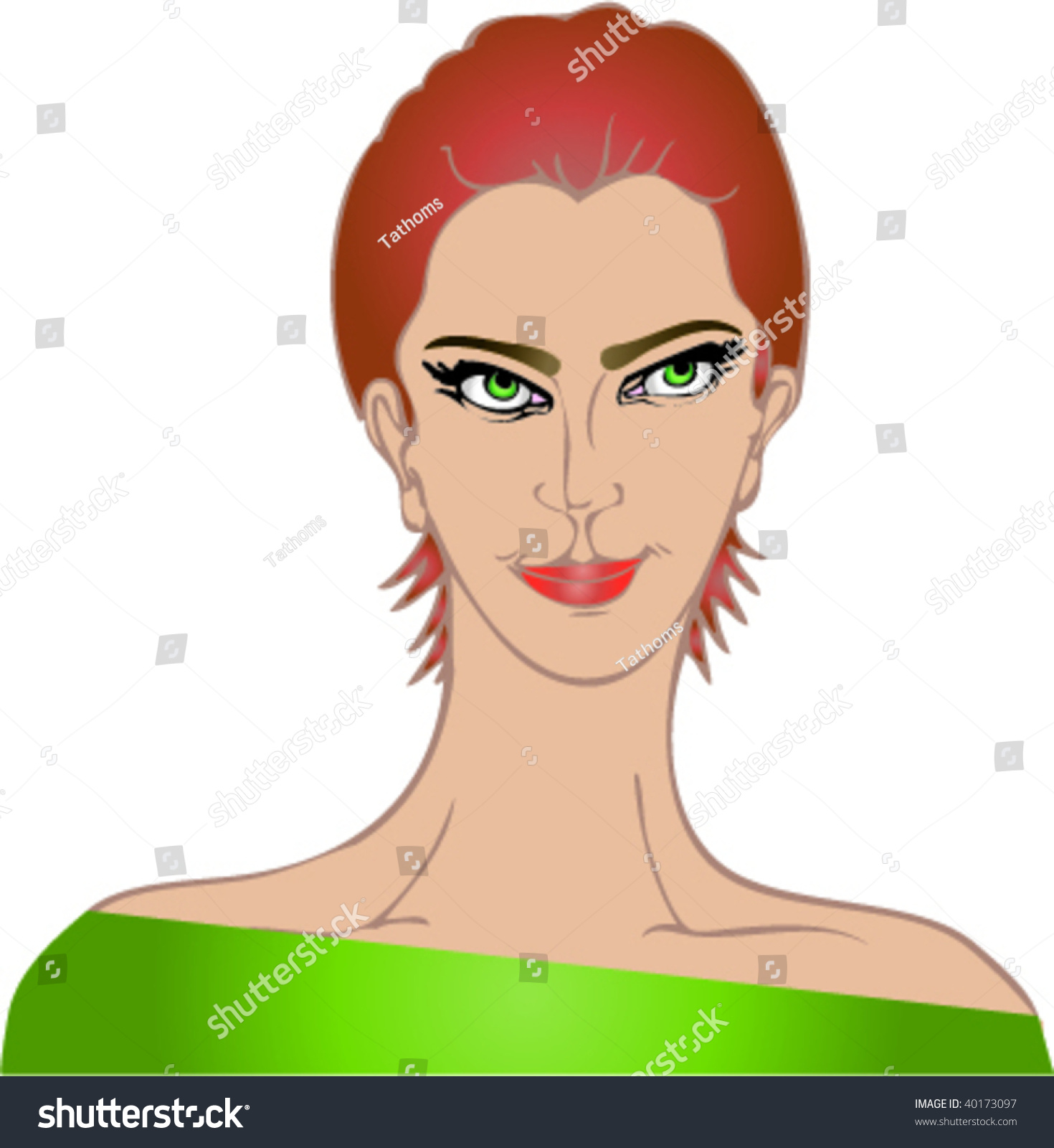 red head woman, fictional