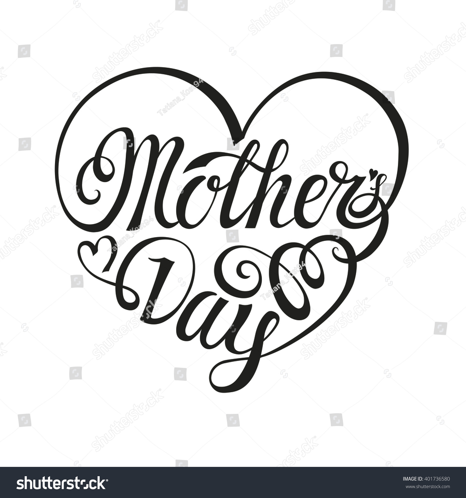mothers day greeting cardtypographic letteringheartvector mothers