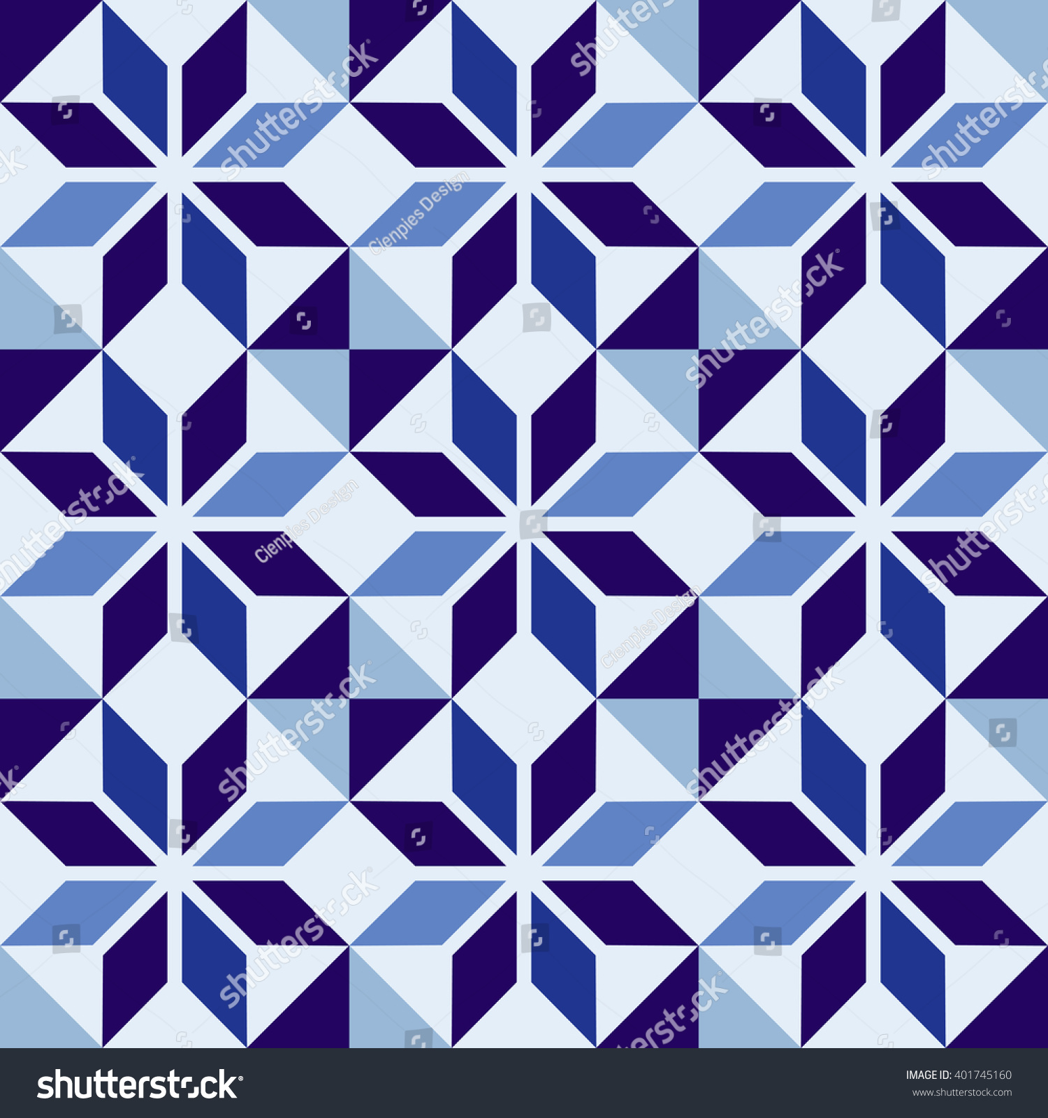 Classic Ceramic Mosaic Tile Seamless Pattern Stock Vector (2018 ...