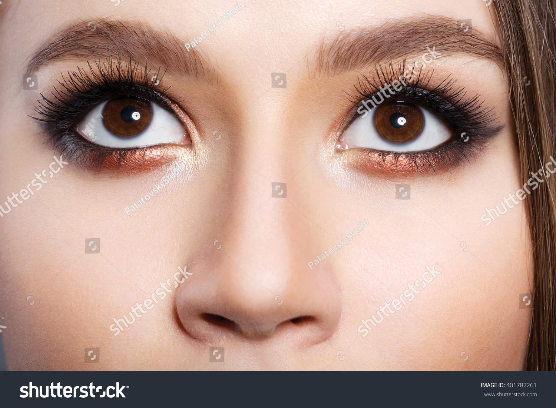 Beautiful Big Eyes Girl Makeup Stock Photo Edit Now 401782261