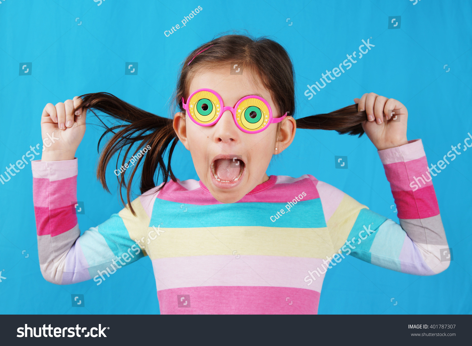 Grimace face clip art stock photo woman pulls a face in upset - Little Girl Making Face With Funny Glasses