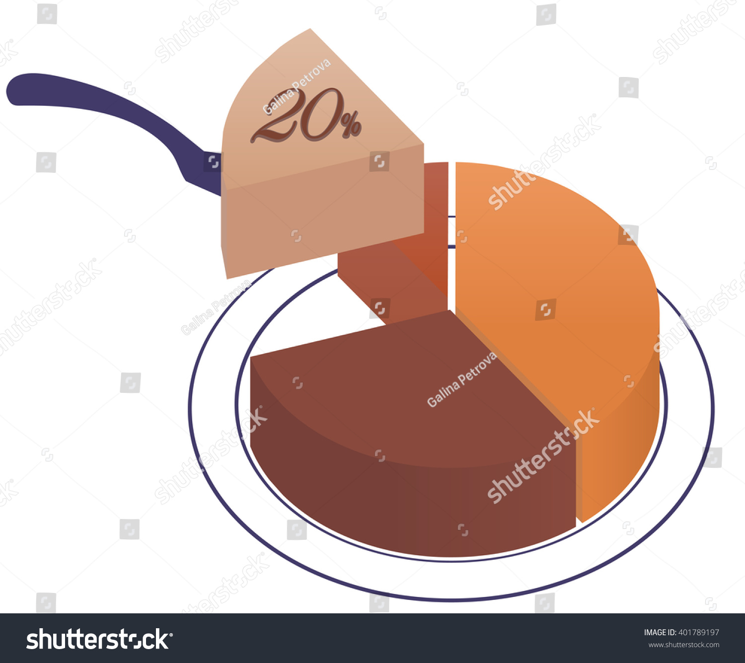 Infographics exploded pie chart one sector stock vector 401789197 infographics exploded pie chart with one sector 20 separated from the rest ccuart Choice Image