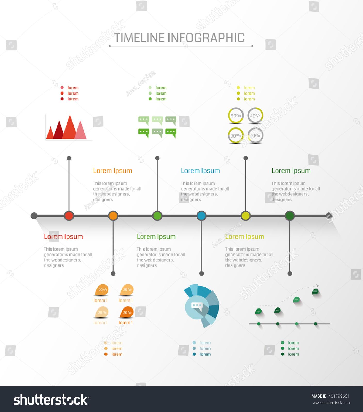 infographics vector design template timeline business stock vector 401799661 shutterstock. Black Bedroom Furniture Sets. Home Design Ideas