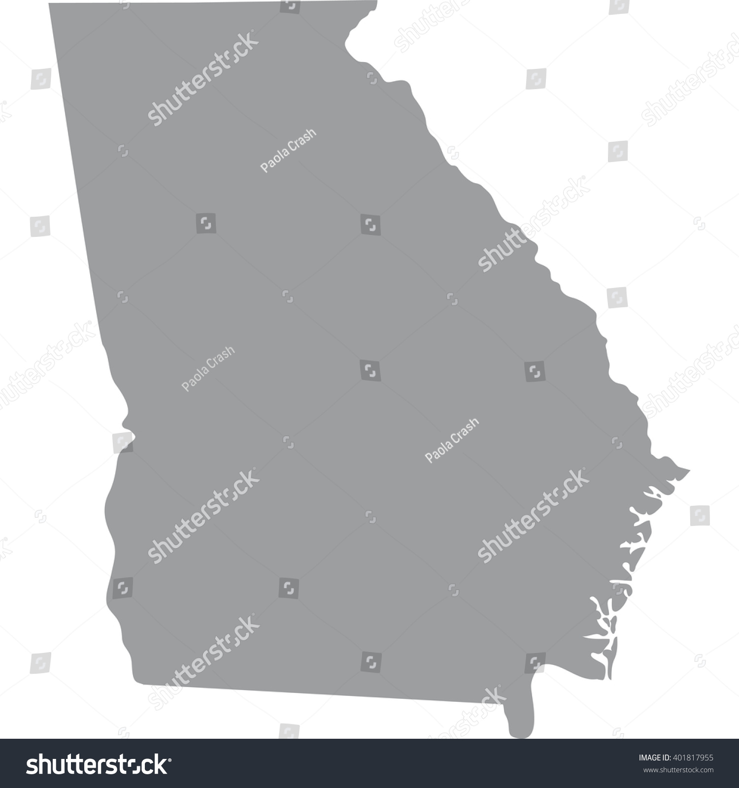 Georgia Us State Vector Map Quebec City Map Rock Of Gibraltar Map - Georgia us map