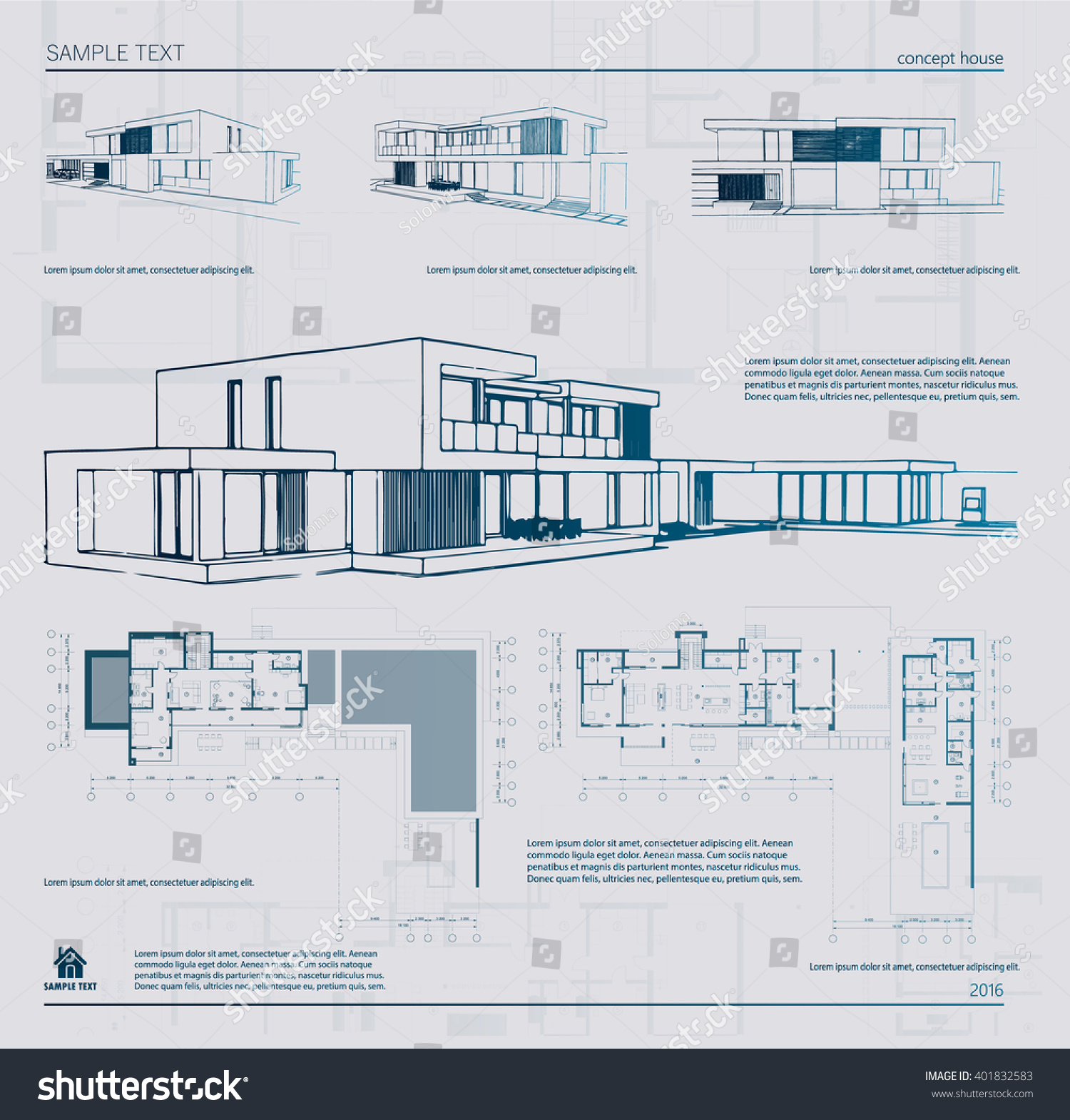 Wireframe Blueprint Drawing 3d Building Vector Stock Of D Architectural Template Background