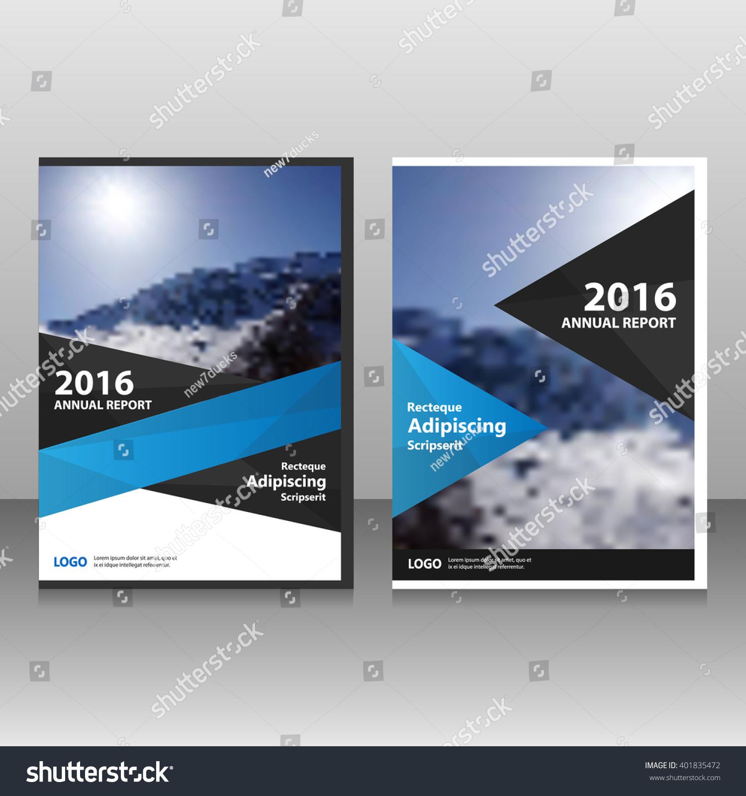 Blue black elegance Vector annual report Leaflet Brochure Flyer template design book cover layout design