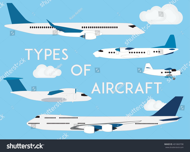 Types Aircraft Vector Modern Flat Illustration Stock ... - photo#23