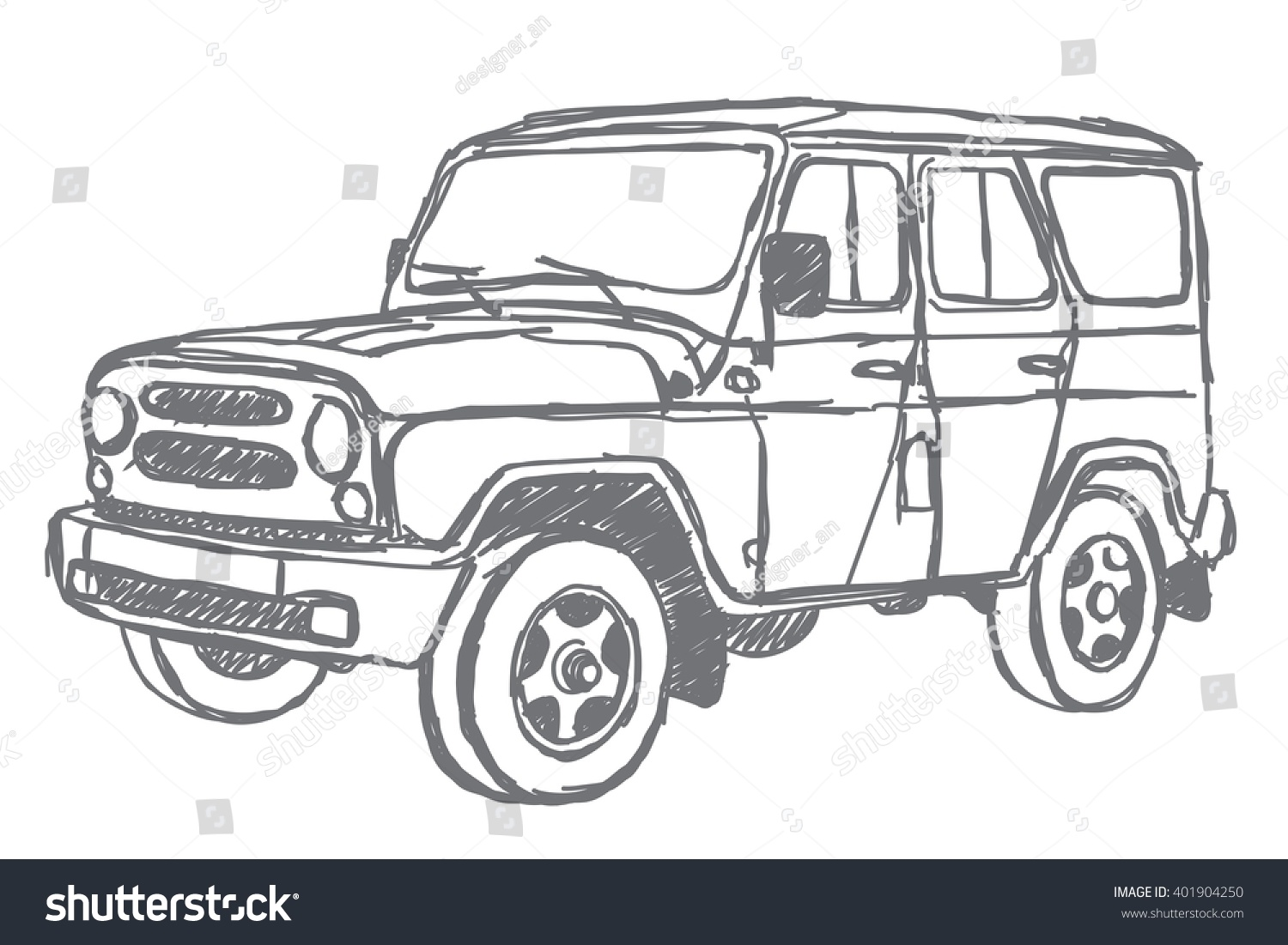 Suv Sketch Stock Illustration Shutterstock