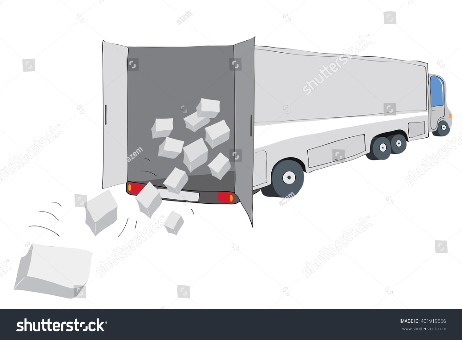 Loss of valuable cargo has fallen from a truck cargo transportation insurance