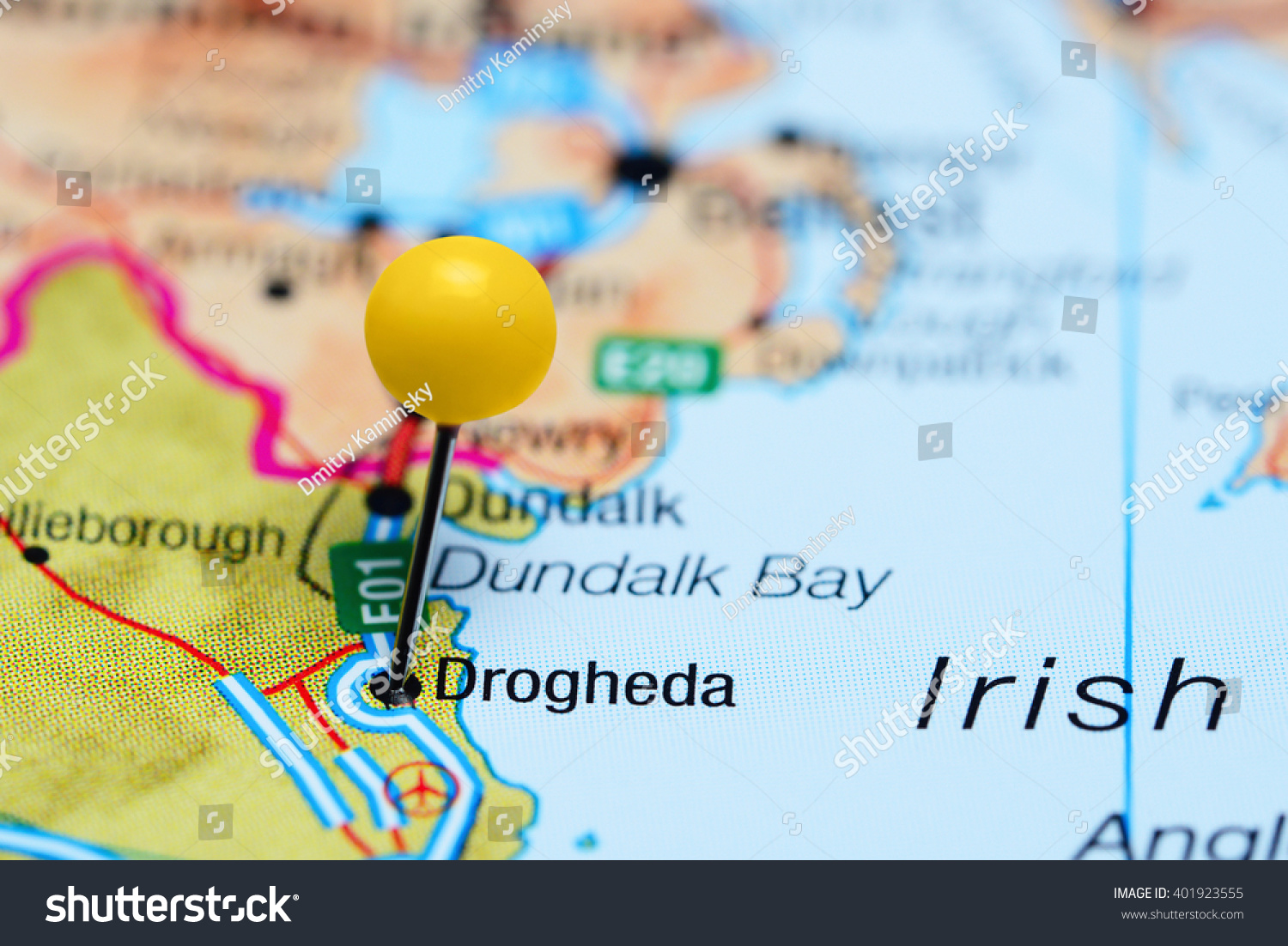 Drogheda Pinned On Map Ireland Stock Photo 401923555 Shutterstock