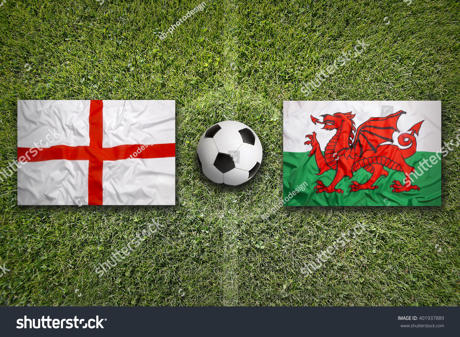 england vs wales flags on green stock photo 401937889 shutterstock