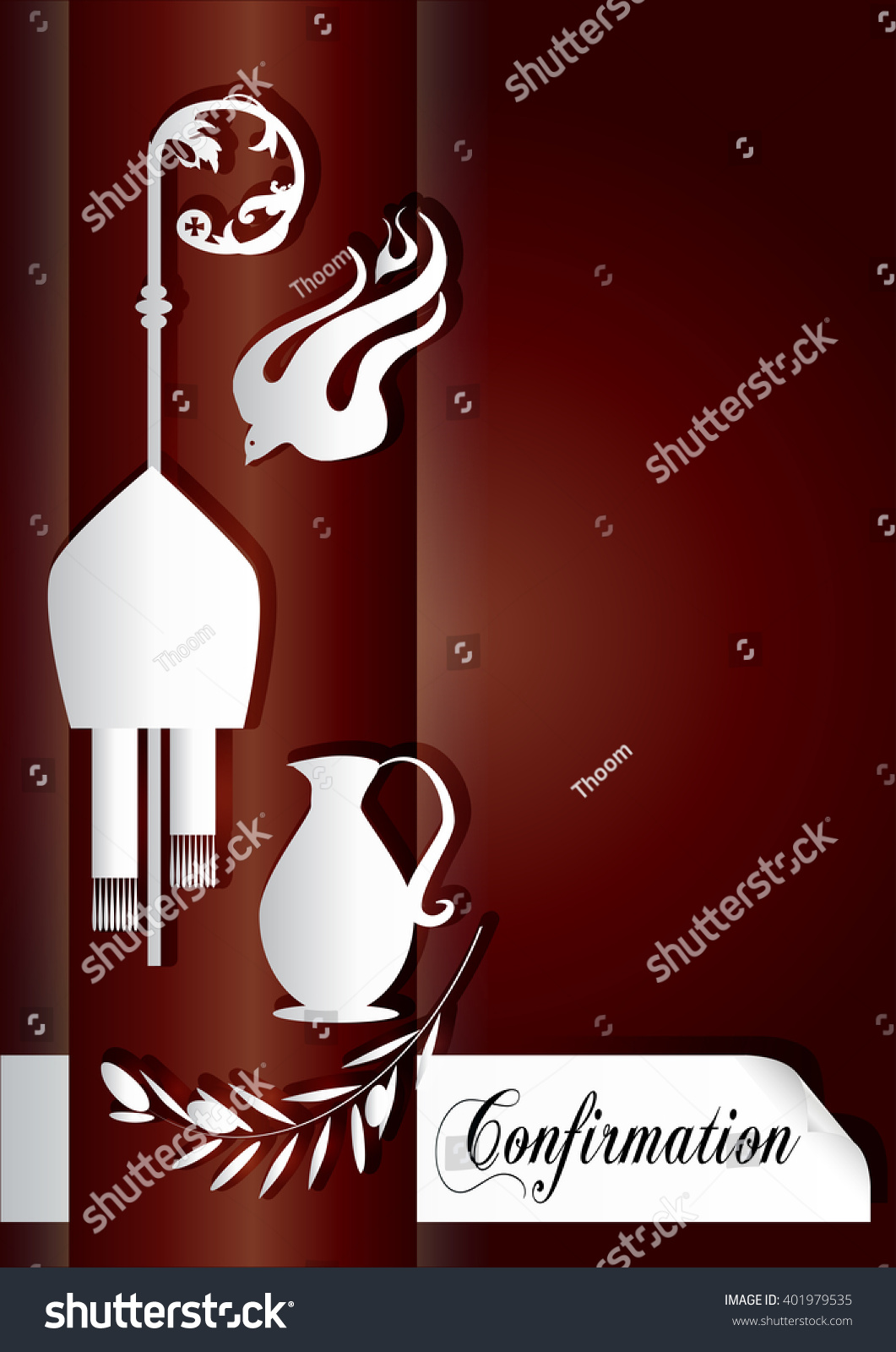 Sacrament confirmation symbolic vector drawing illustration stock sacrament of confirmation symbolic vector drawing illustration with the holy olive oil and olive biocorpaavc Image collections