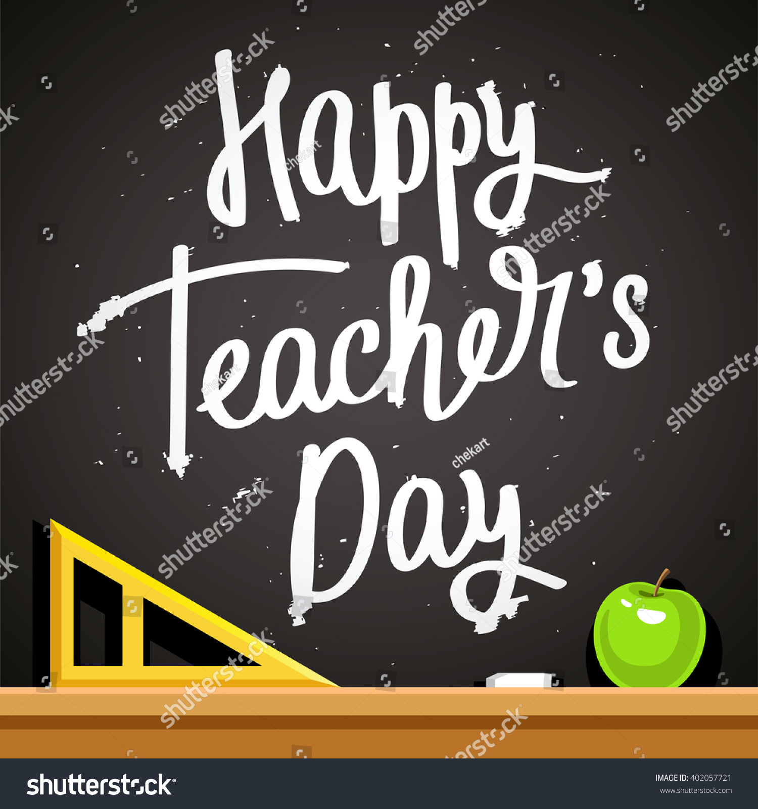 Happy teachers day fashionable calligraphy excellent stock