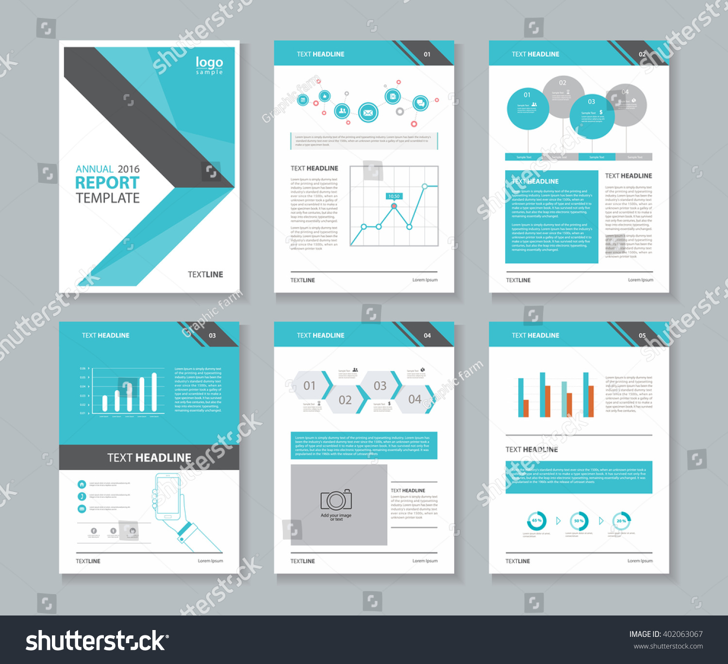Page Layout Company Profile Annual Report Stock Photo Photo Vector