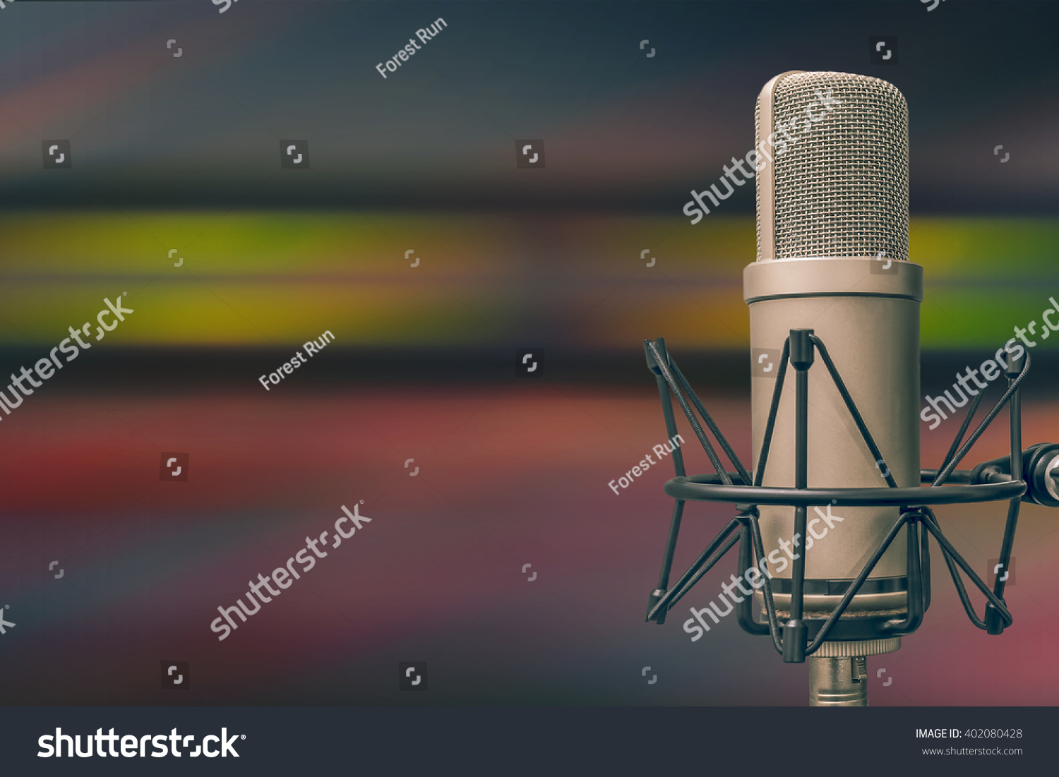 for radio stations a microphone and an audio console