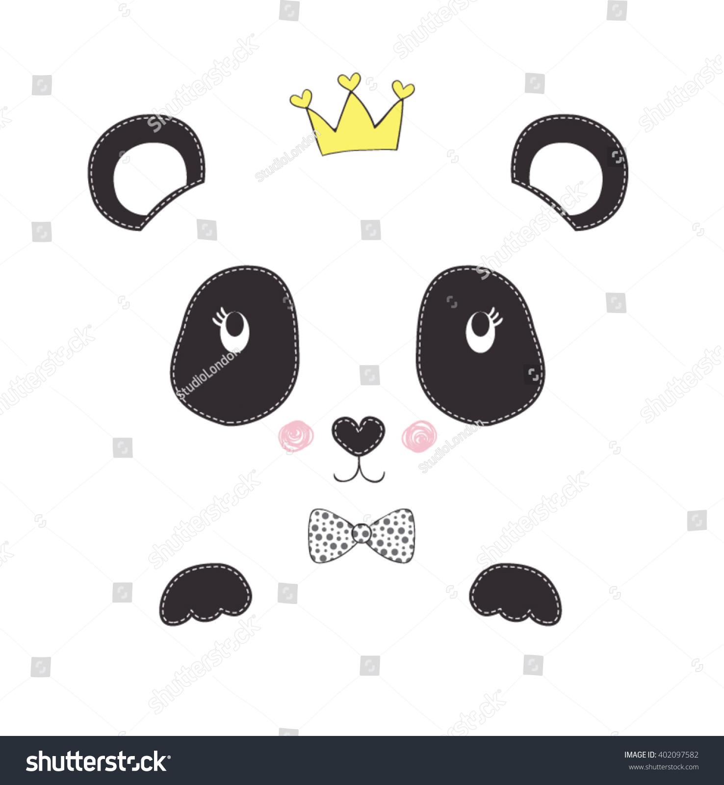 panda vector-simple sign a panda-Baby panda face logo template-pretty ...