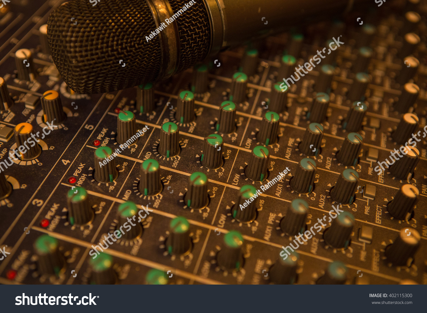 Microphone Audio Mixer Background Stock Photo Edit Now 402115300 Mic Circuit And