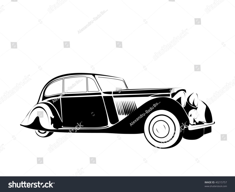 Old Vintage Car Stock Vector 40215757 - Shutterstock