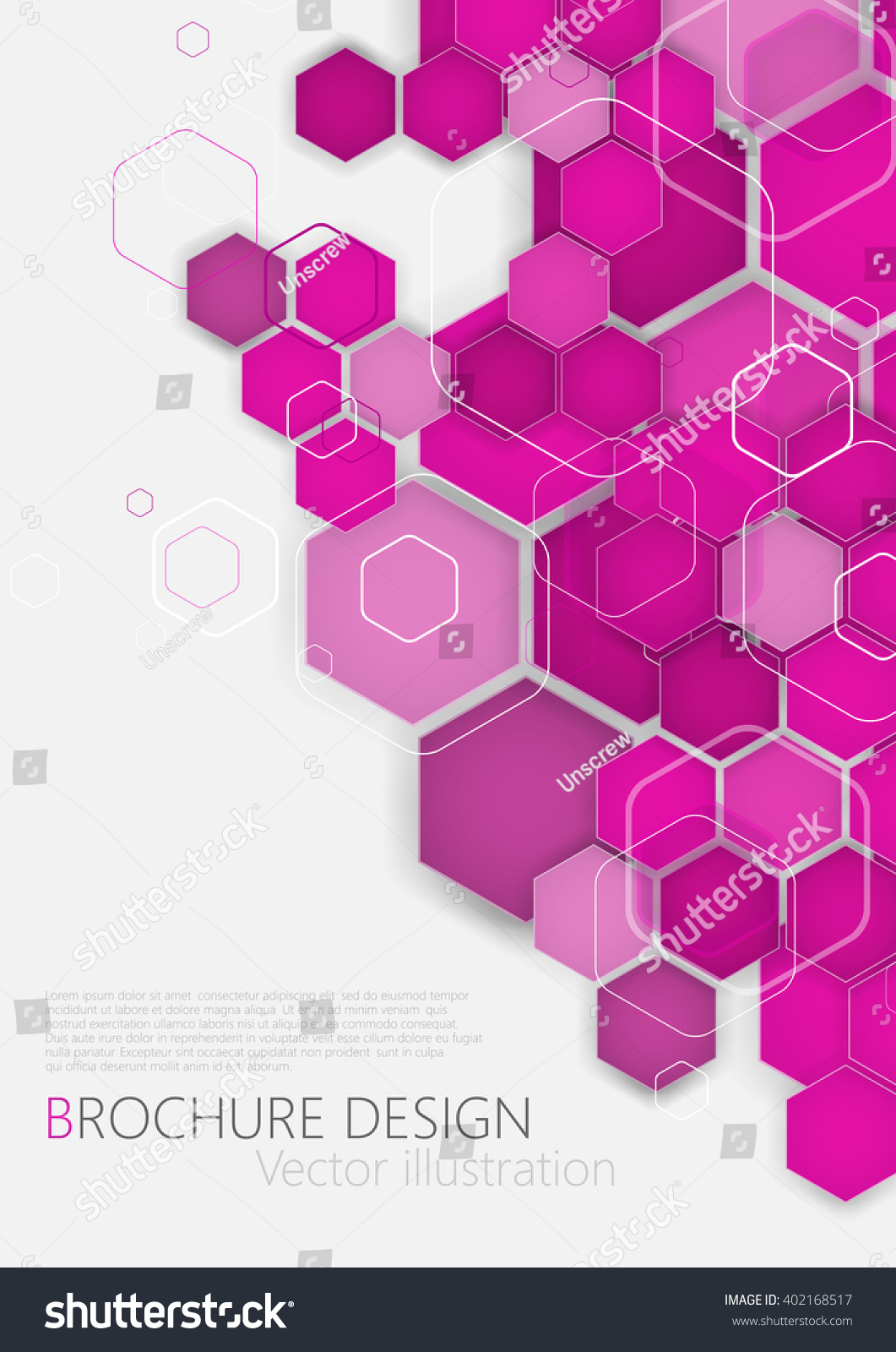 business brochure cover design template vector stock vector (royalty