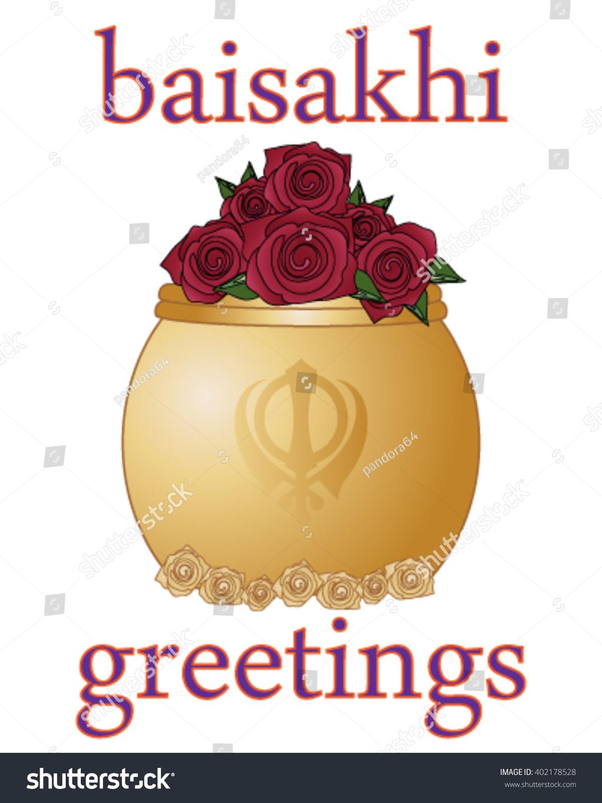 Vector Illustration Eps 10 Format Baisakhi Vector 402178528 – Greeting Card Format