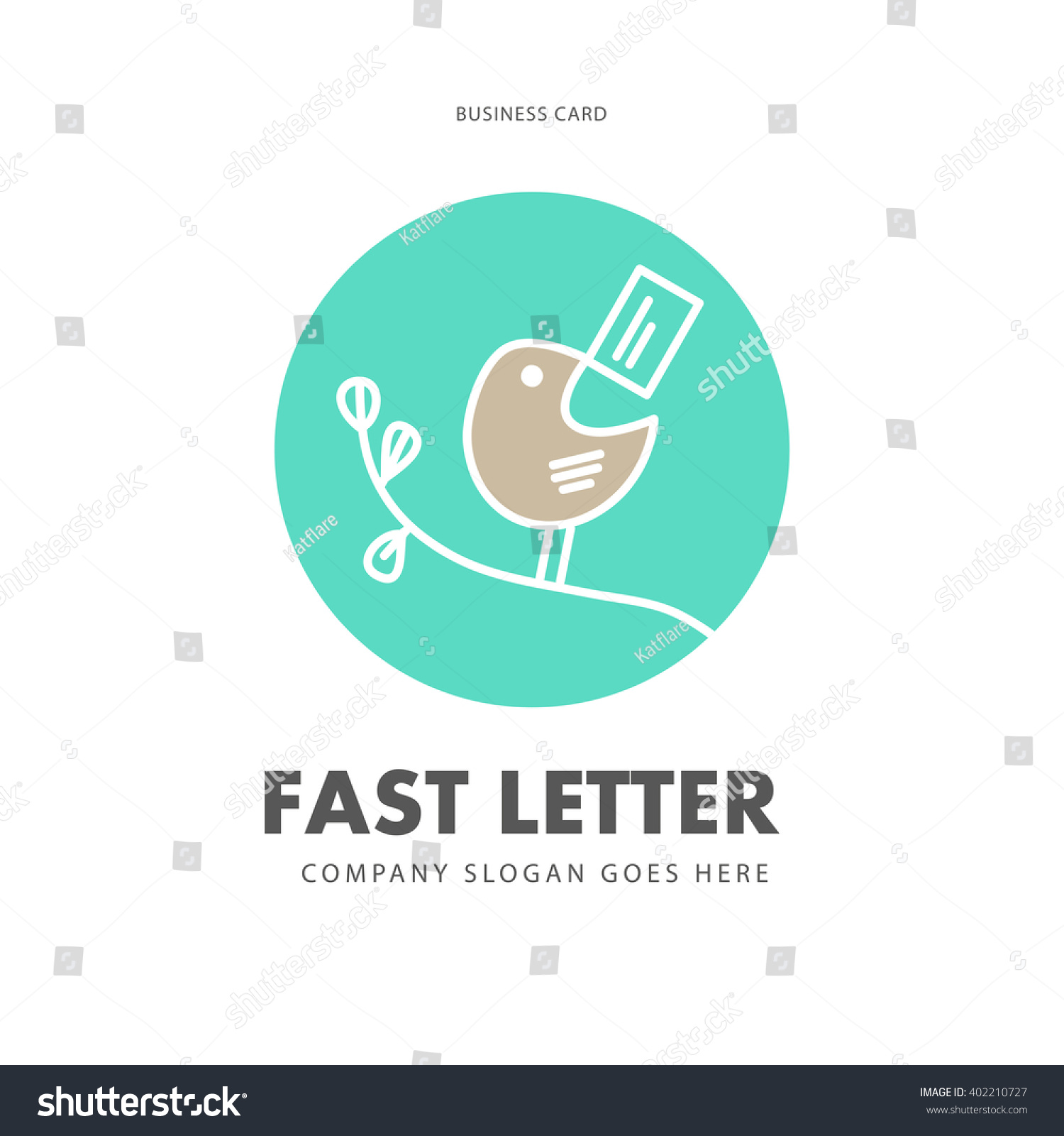 Vector simple flat business card express stock vector 402210727 vector simple flat business card express mail delivery business logistics company advertising logo reheart Images