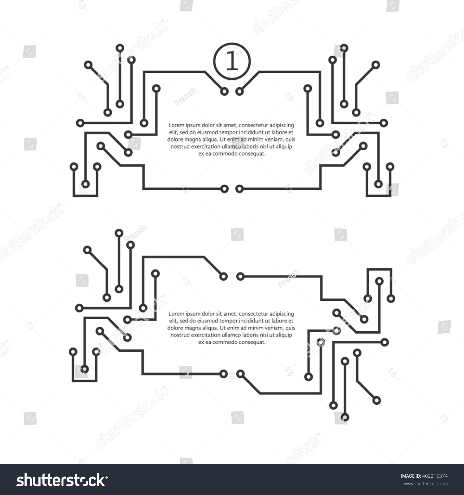 Printed Circuit Board Diagram Like Quote Text Stock Illustration Royalty Concept Of Futuristic Engineering Textbox Template