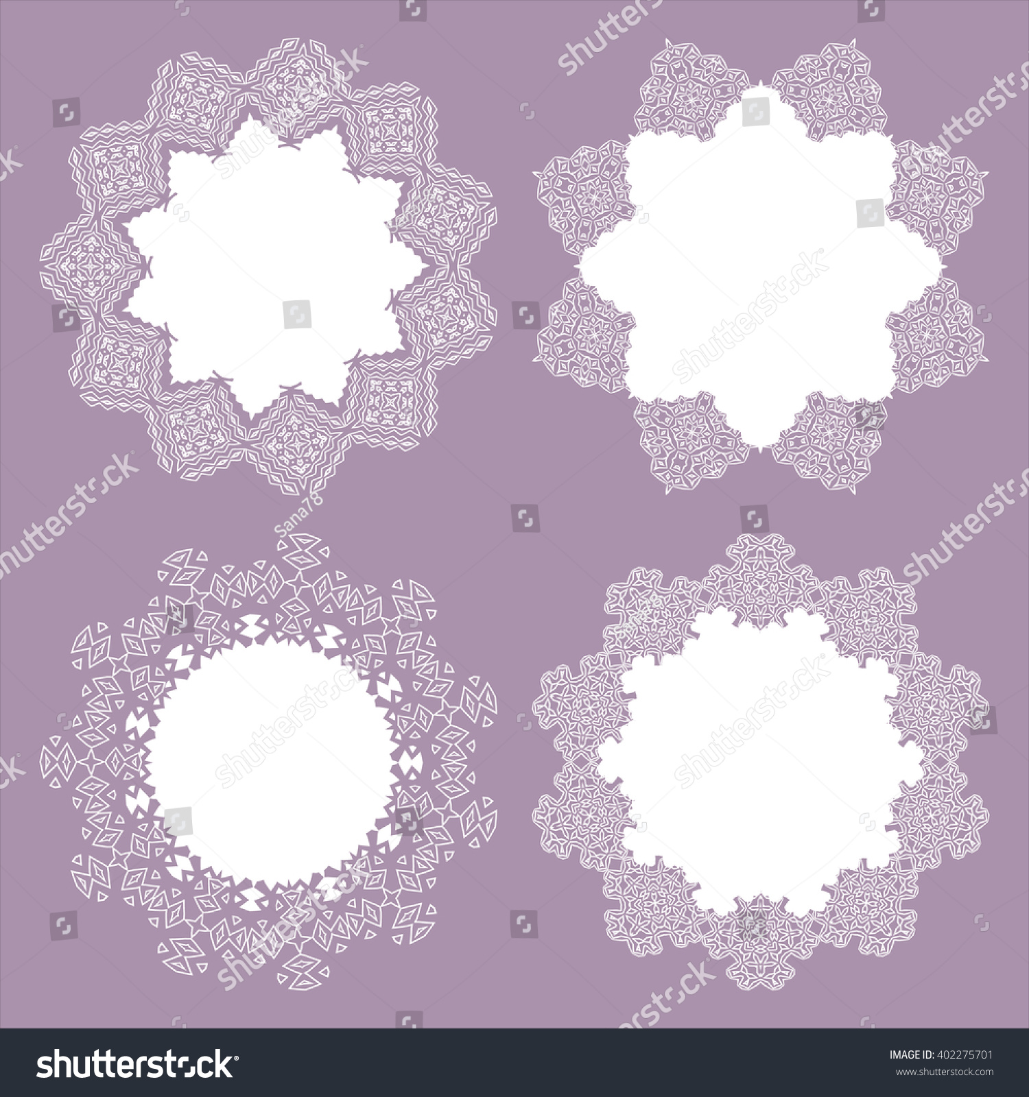 A collection lacy napkins can be stock vector 402275701 shutterstock it can be used as frame invitation label stopboris Images