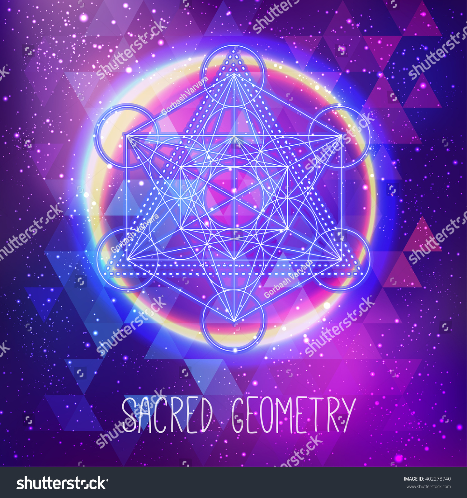 metatrons cube flower life sacred geometry stock vector 402278740 shutterstock. Black Bedroom Furniture Sets. Home Design Ideas