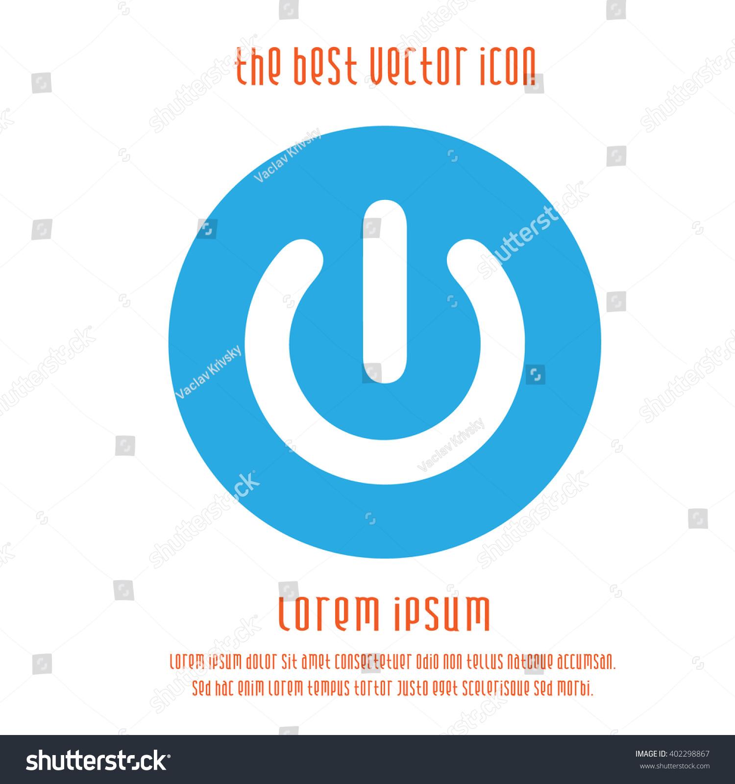 Power Symbol Vector Icon Start Blue Stock Vector (Royalty Free ...
