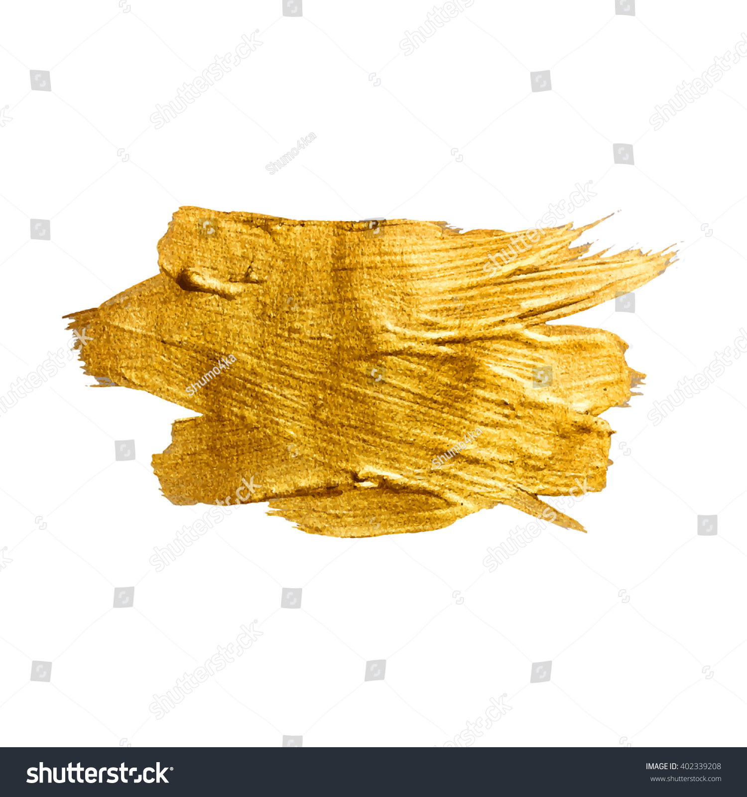 royalty free gold metal foil glitter brush stroke u2026 402339208