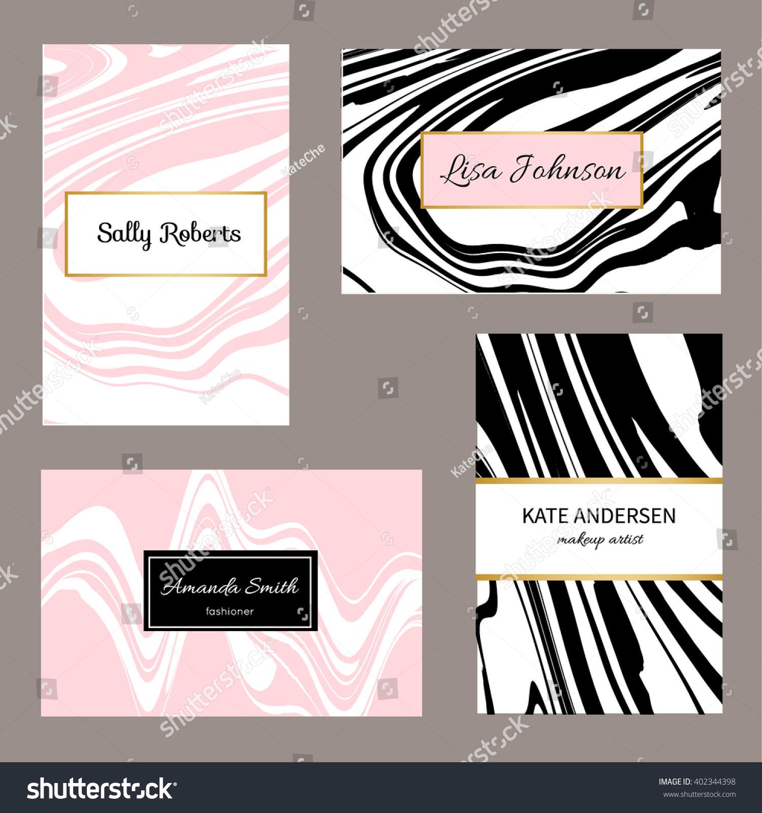 creative modern business cards invitations set stock vector