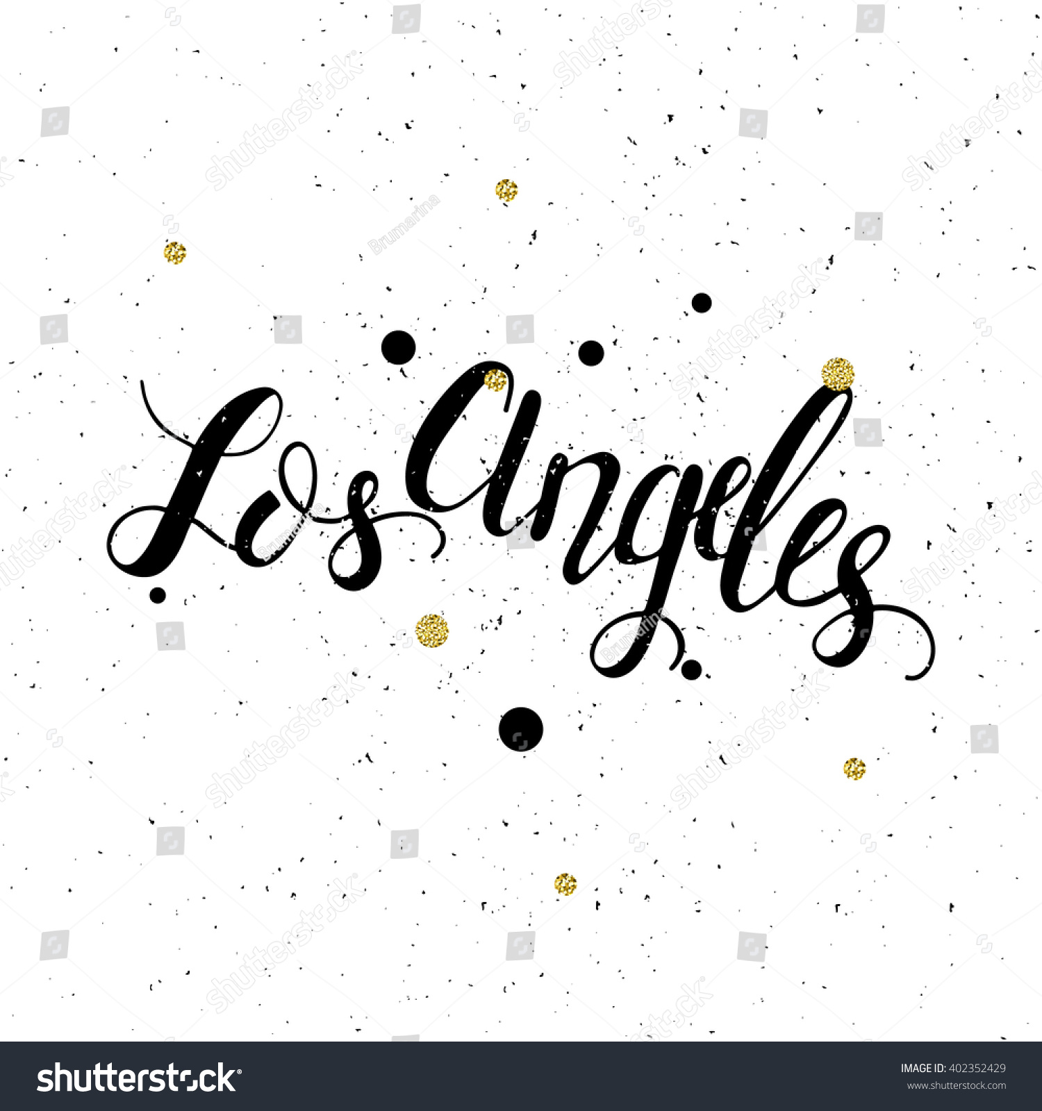 Design t shirts los angeles - Conceptual Handdrawn Phrase Los Angeles Handdrawn Tee Graphic Lettering Design For Posters T