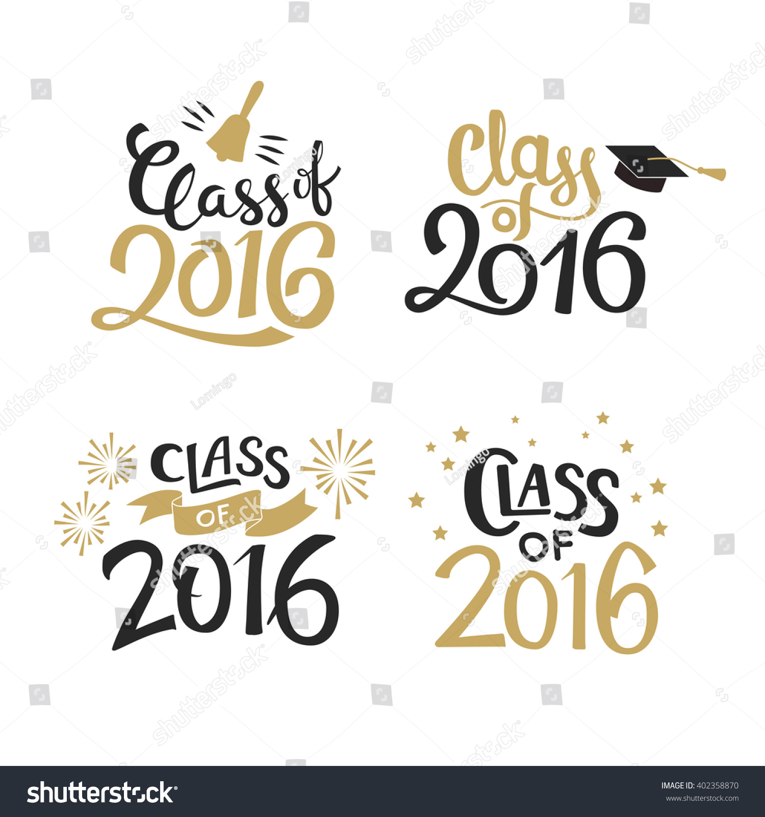 Set graduation labels vector isolated elements stock vector set of graduation labels vector isolated elements for graduation design congratulation event party kristyandbryce Gallery