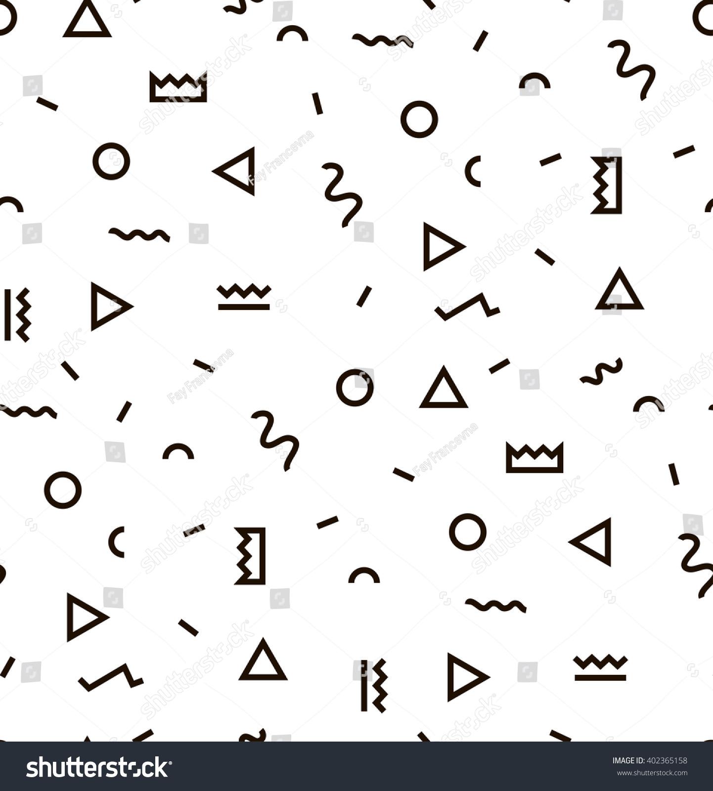 Geometric Vector Pattern Black White Form Stock Vector 402365158 ...