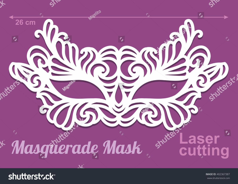 Beautiful Laser Cut Vector Die Masquerade Vector 402367387 – Masquerade Mask Template
