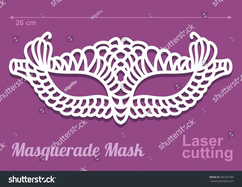 Beautiful Laser Cut Vector Die Masquerade Vector 402367396 – Masquerade Mask Template