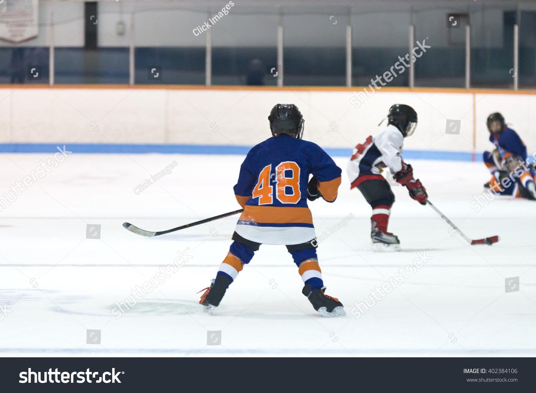 Minor Ice Hockey Game Action Kids Stock Photo Edit Now 402384106