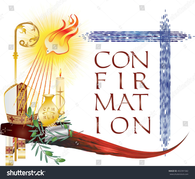 Sacrament Confirmation Symbolic Vector Drawing ...