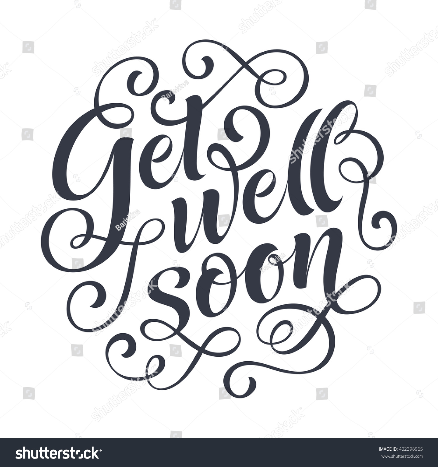 Get Well Soon Vector Text On Stock Vector Royalty Free 402398965