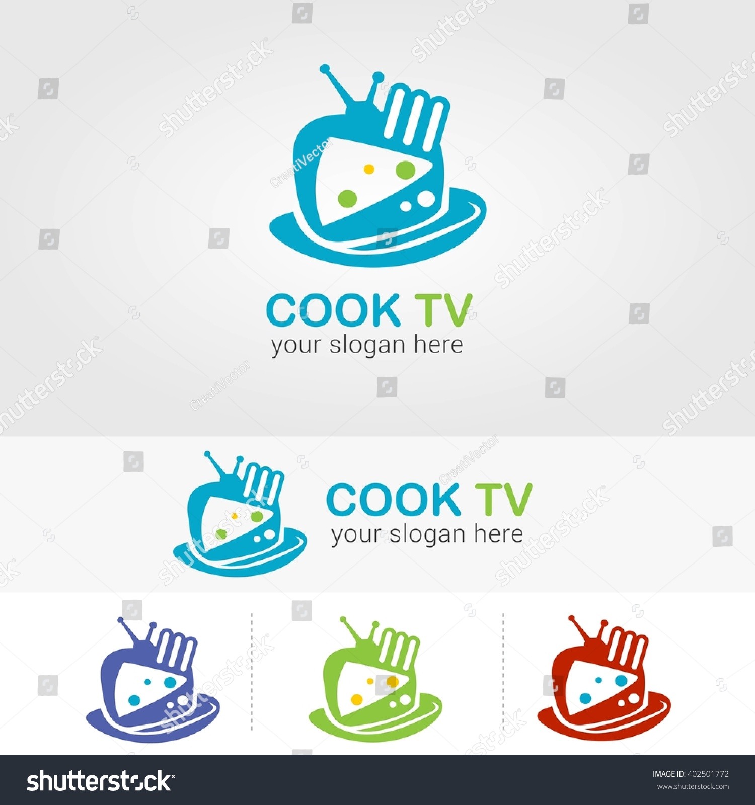 Cook Tv Logo Design Template Vector Stock Vector 402501772